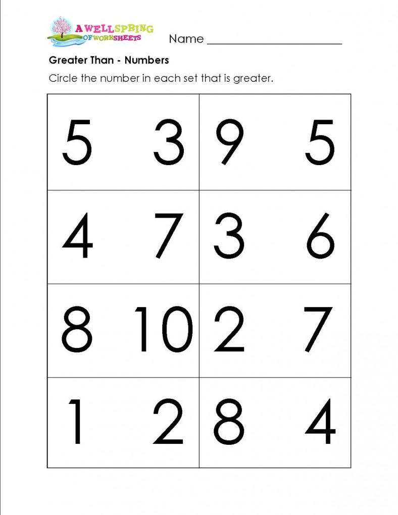 more or less worksheets preschool