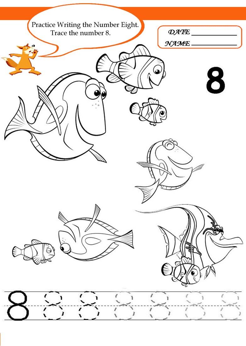 number 8 worksheet practice