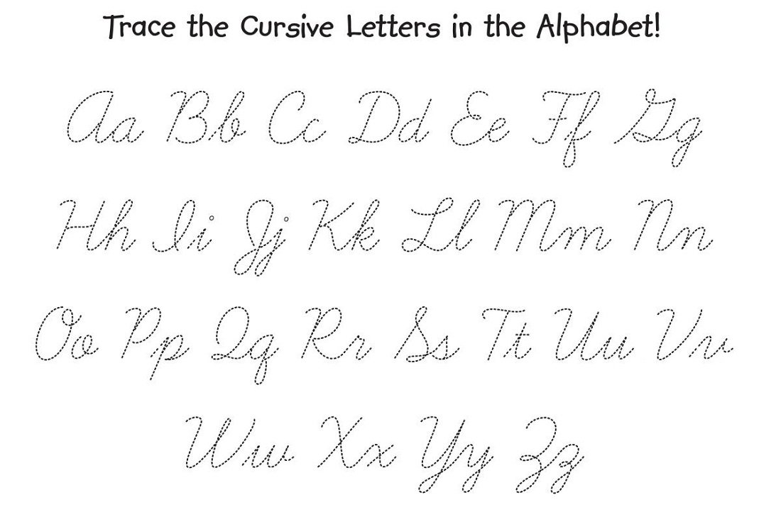 printable letters to trace cursive