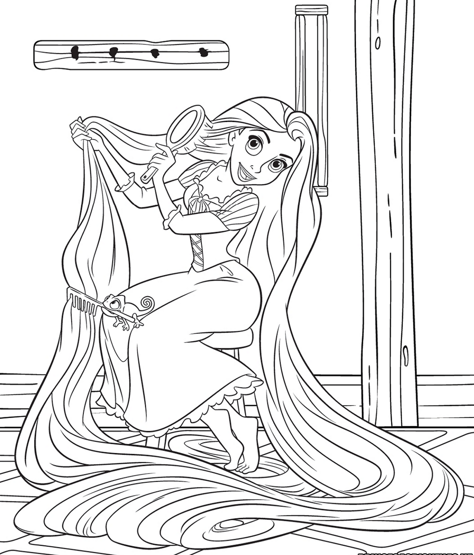rapunzel color pages for adult