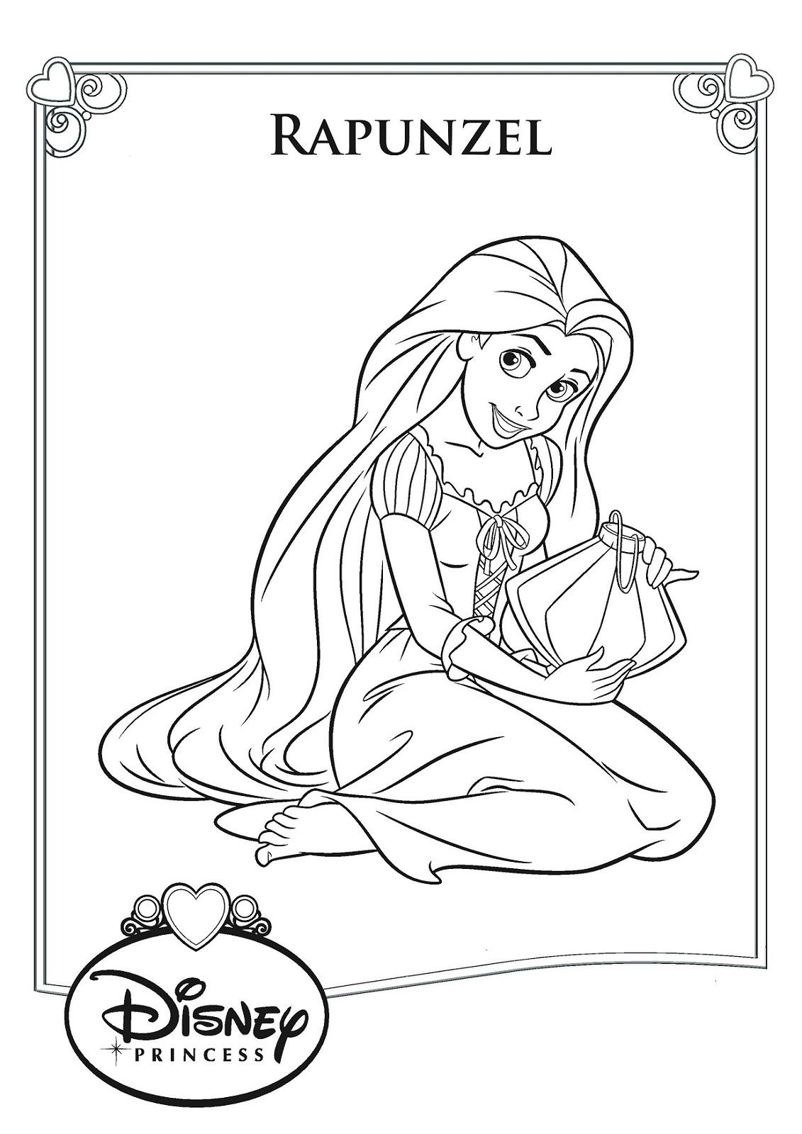 rapunzel color pages new