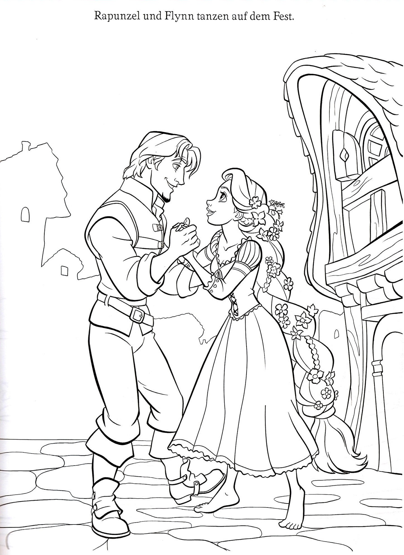 rapunzel color pages printable - Rapunzel Coloring Pages To Print
