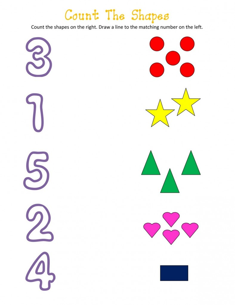 shapes and numbers colour