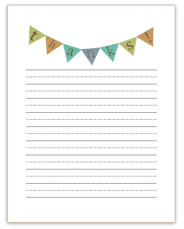Thank You Note Templates Free | Activity Shelter