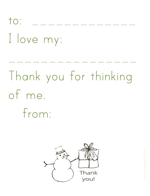 Thank You Note Templates Free Activity Shelter