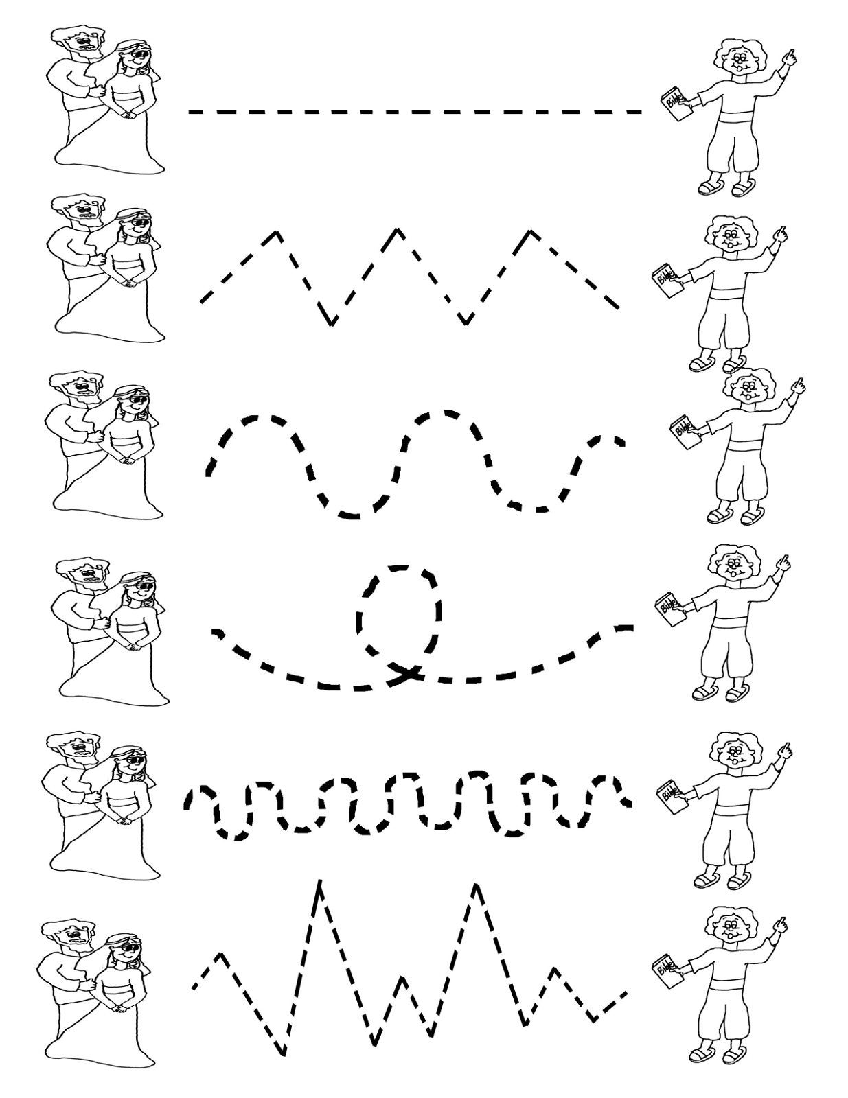 Line Art For Kindergarten : Tracing activities for preschool kids activity shelter