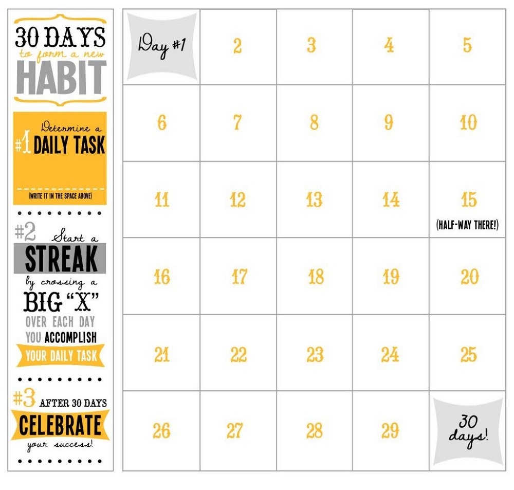 Printable Workout Calendar simple