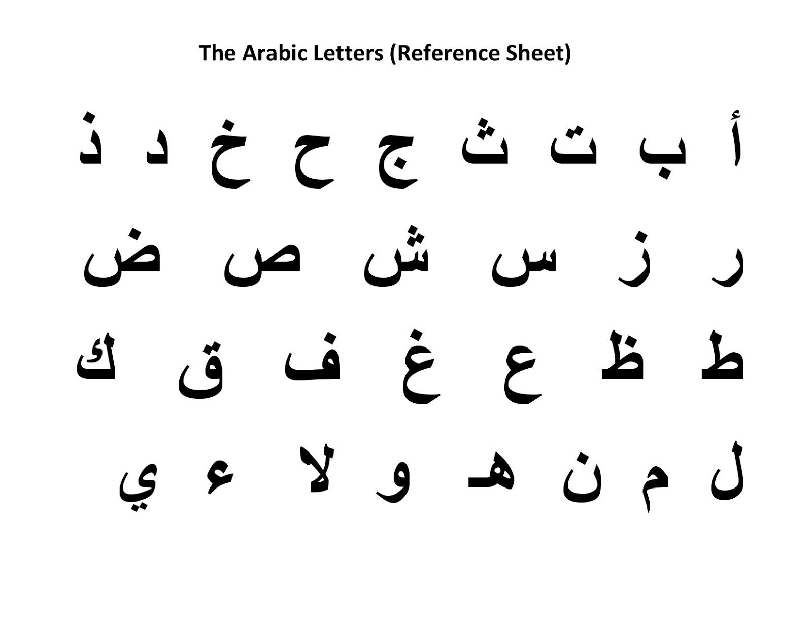 arabic alphabet best