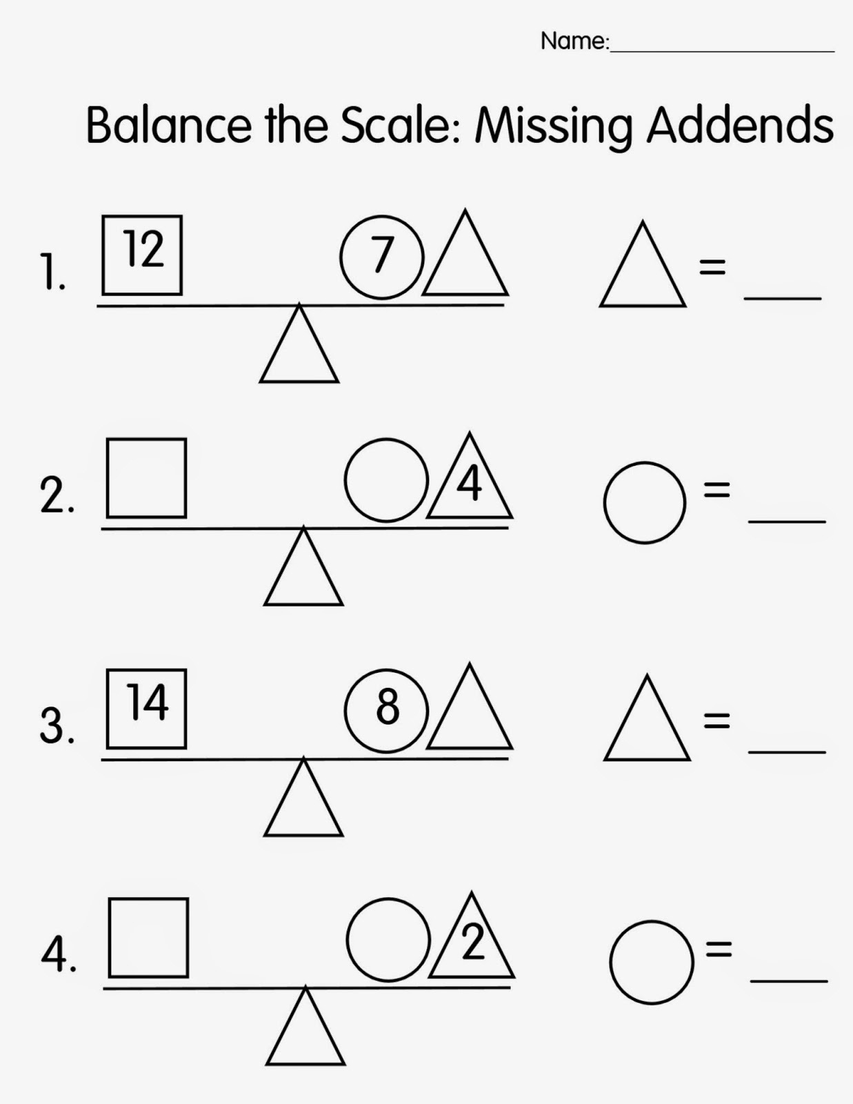 balance scale worksheet 2016