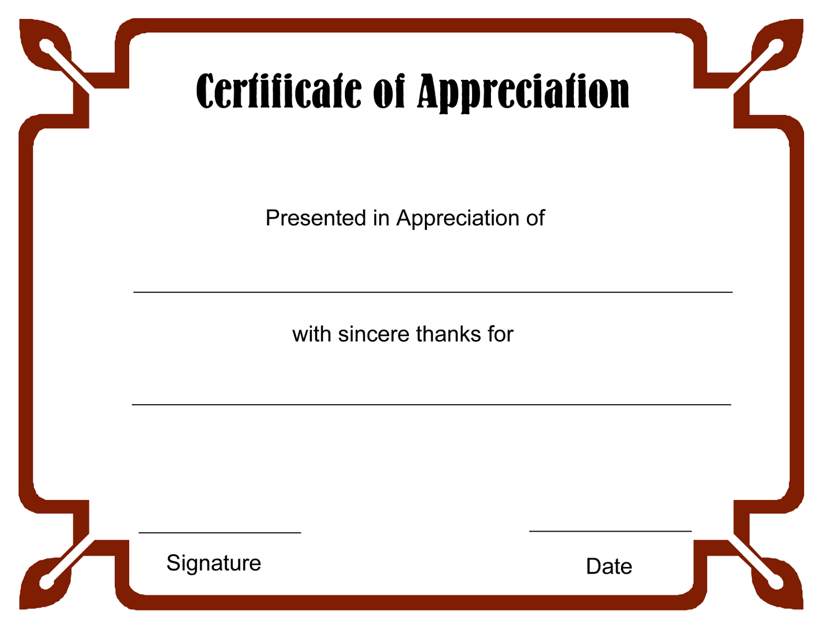 blank certificate template - photo #8