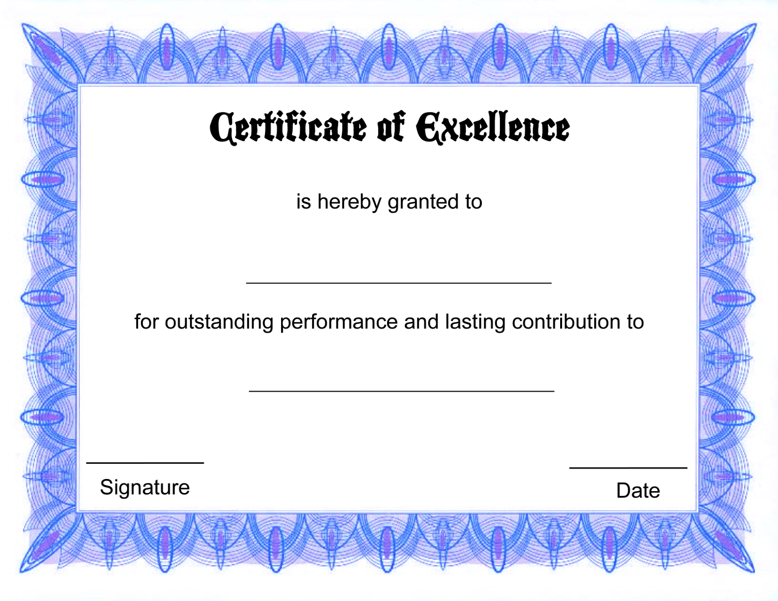 blank certificate template - photo #7