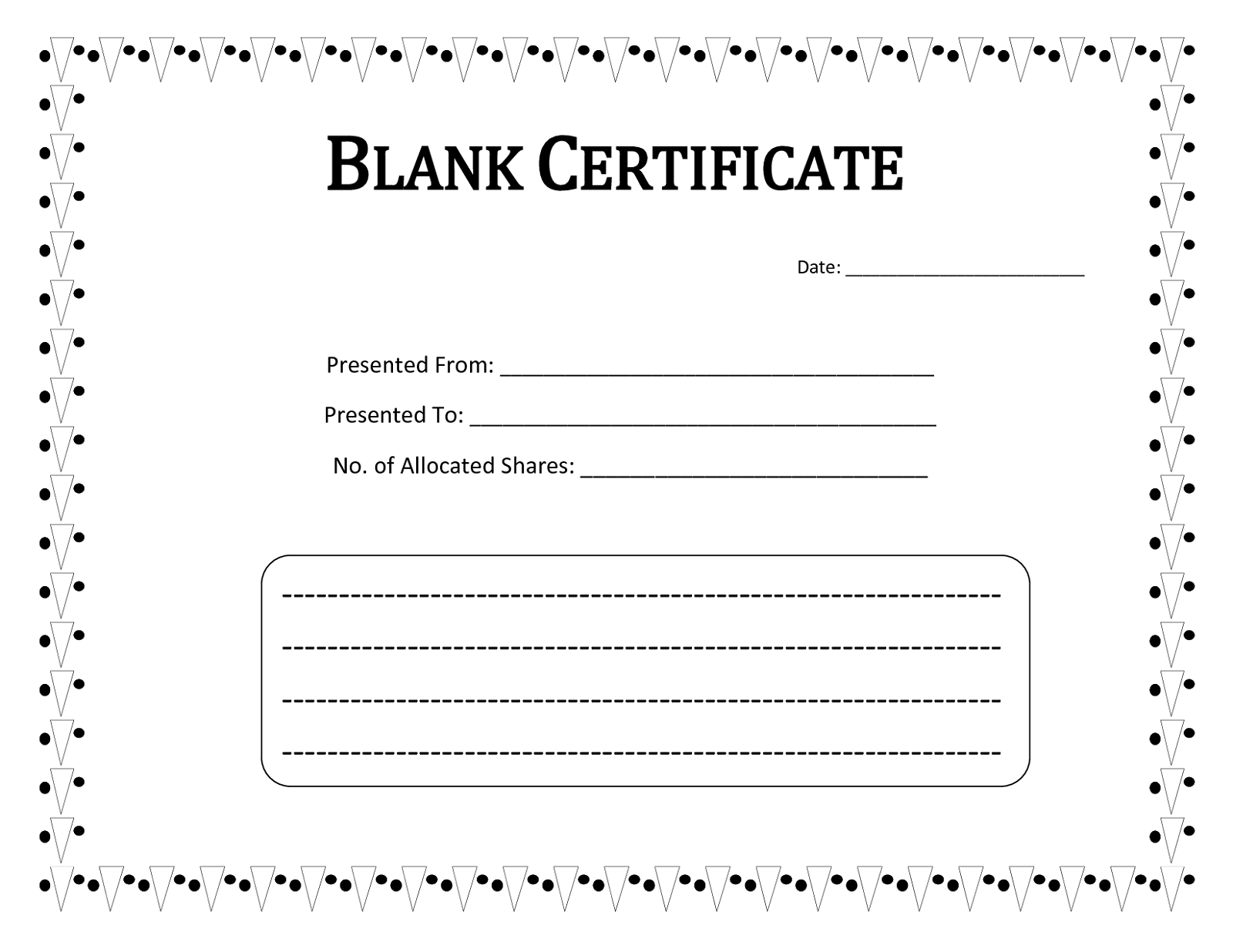 blank certificate template - photo #20