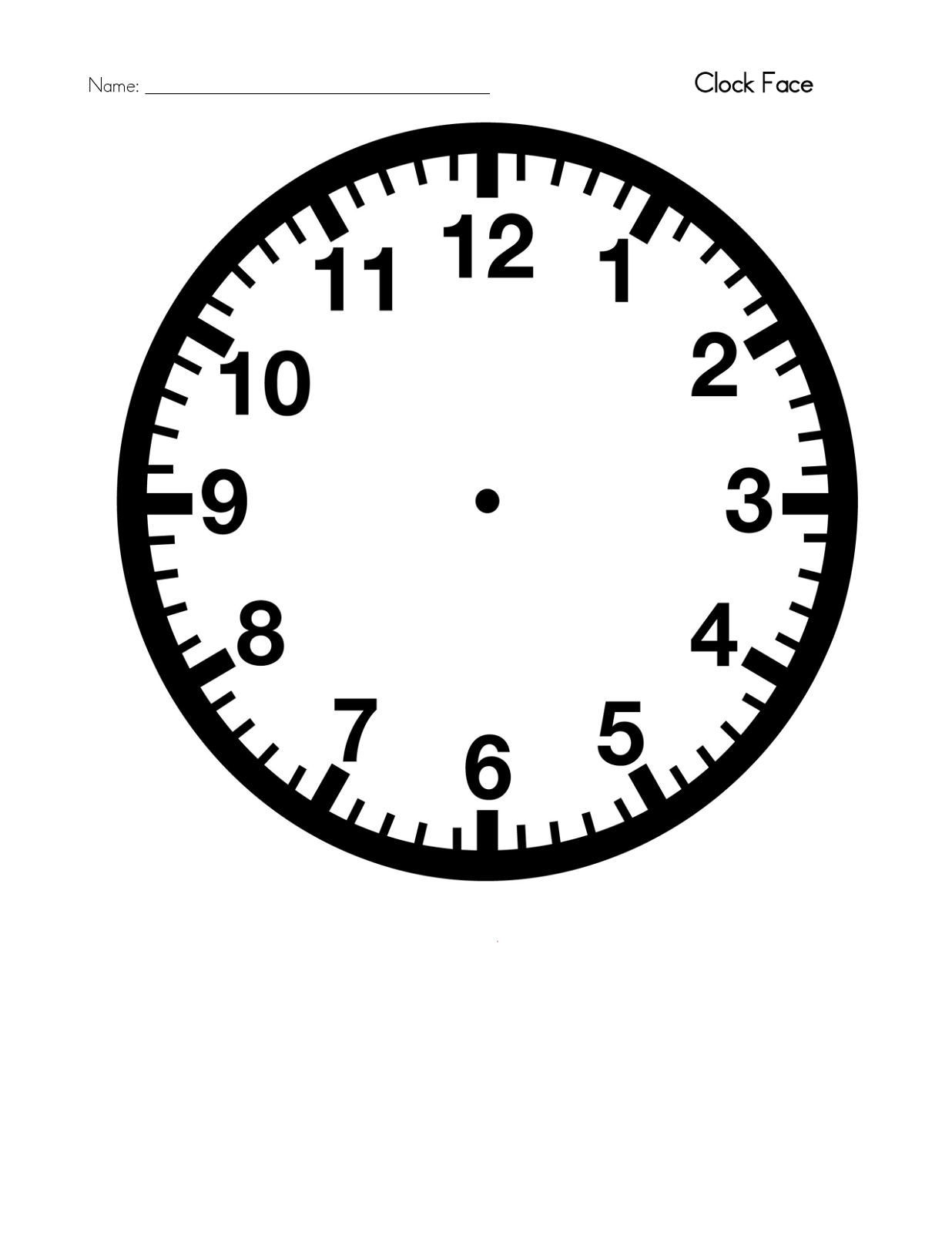 clock face templates for printing - blank clock template printable activity shelter