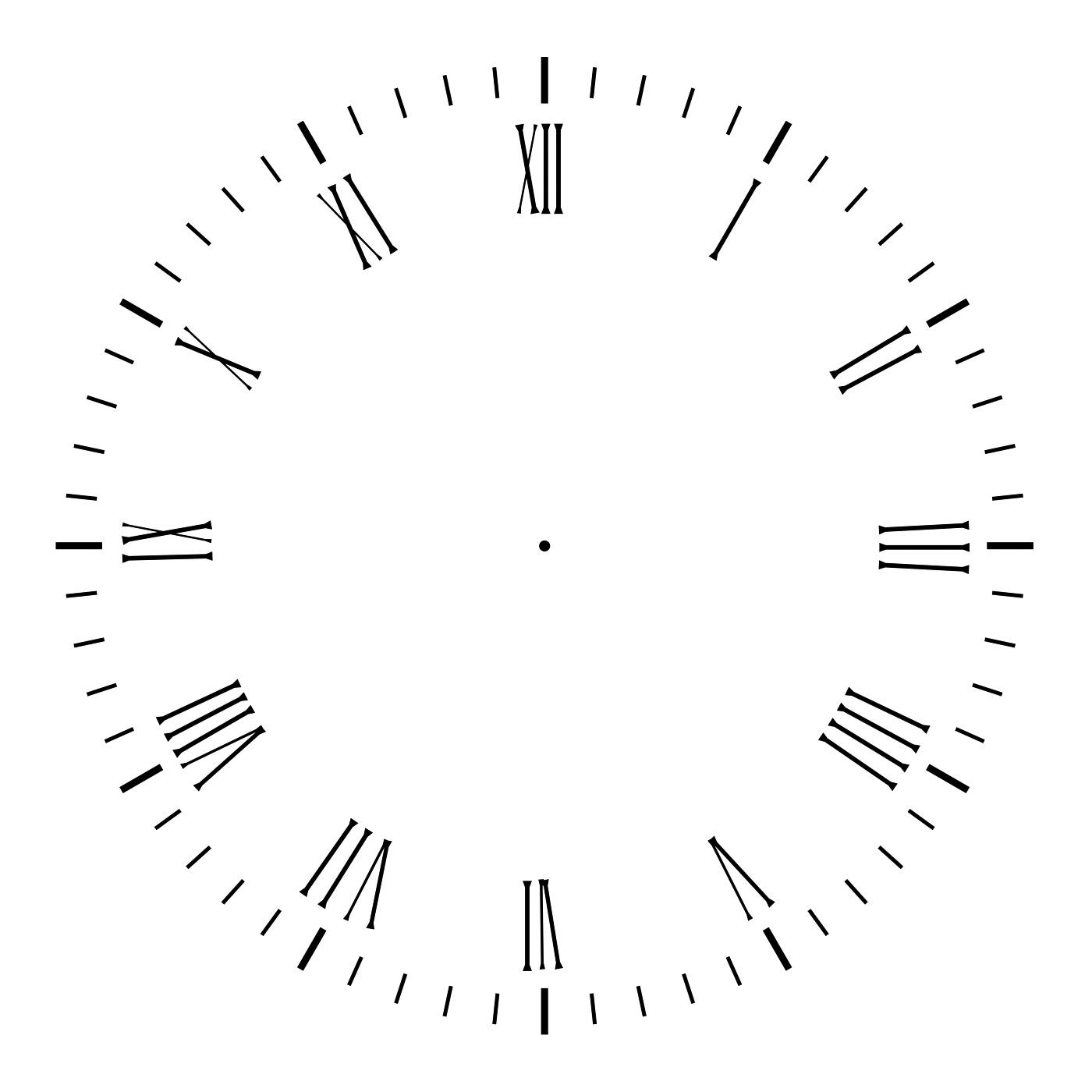 blank clock template new