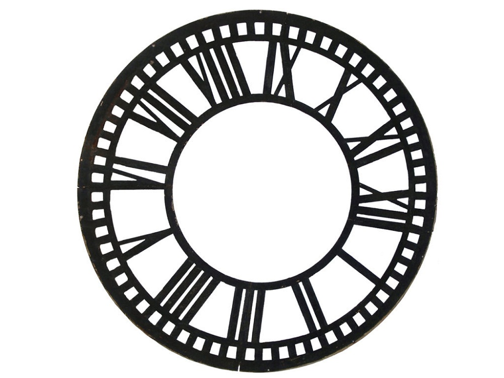 blank clock template roman