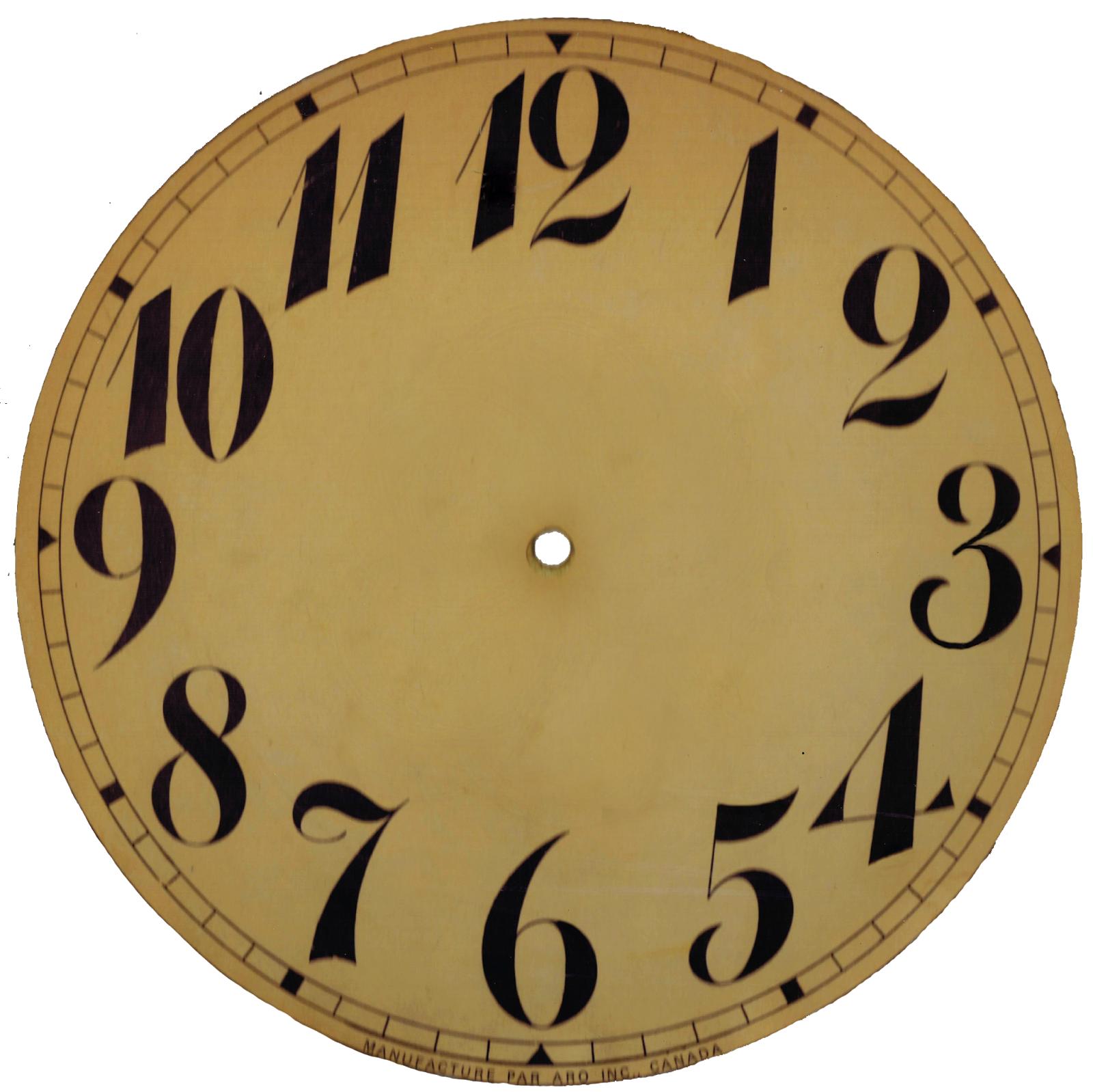 blank clock template vintage