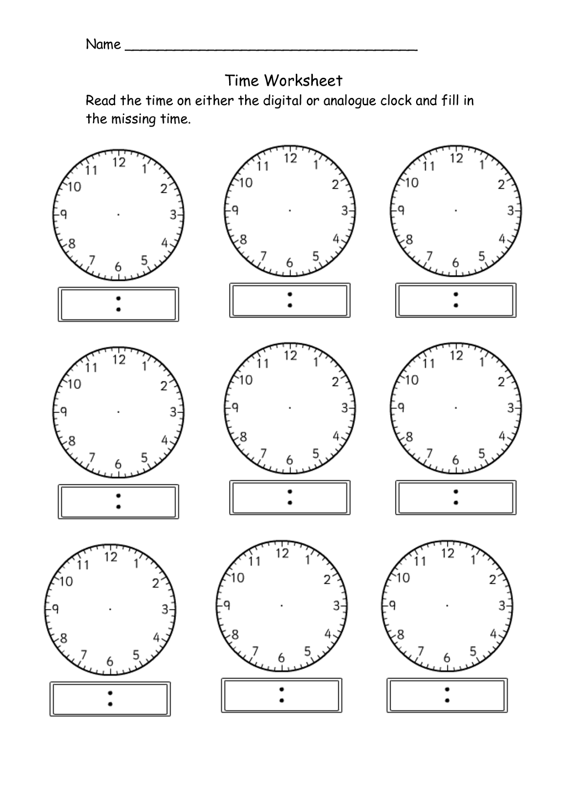 Sly image throughout blank clock printable