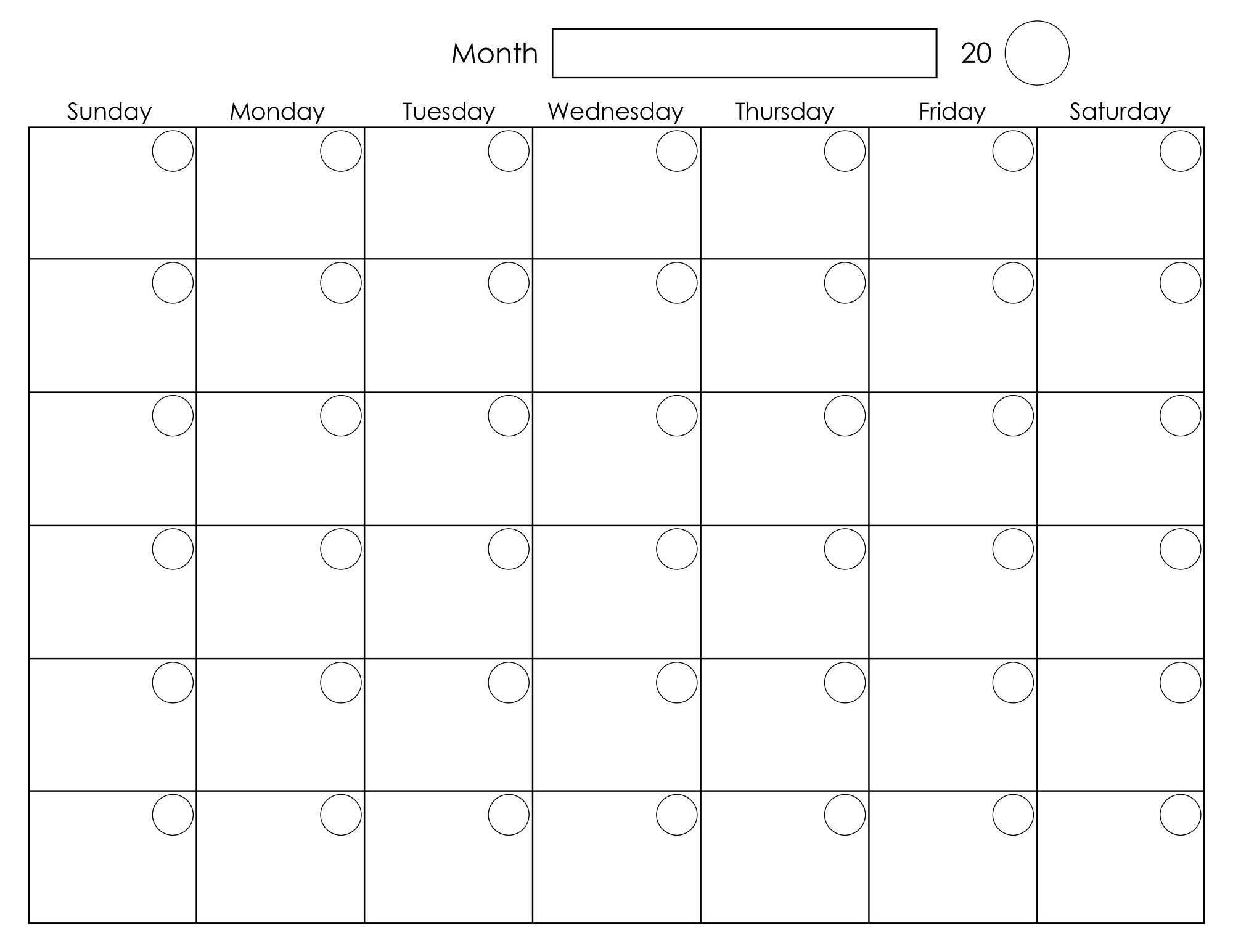 Printable Monthly Calendar Kindergarten : Blank weekly calendars printable activity shelter