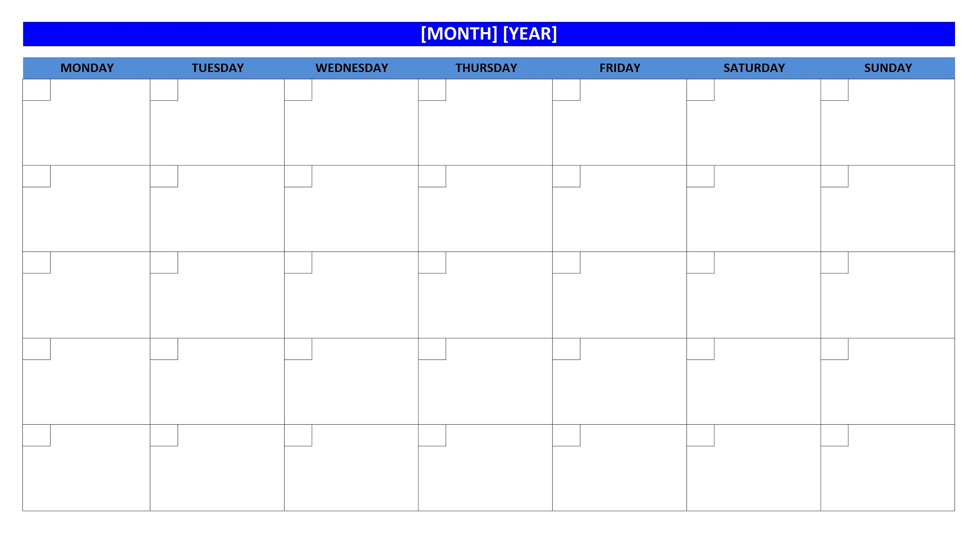 Blank Calendar Image : Blank weekly calendars printable activity shelter