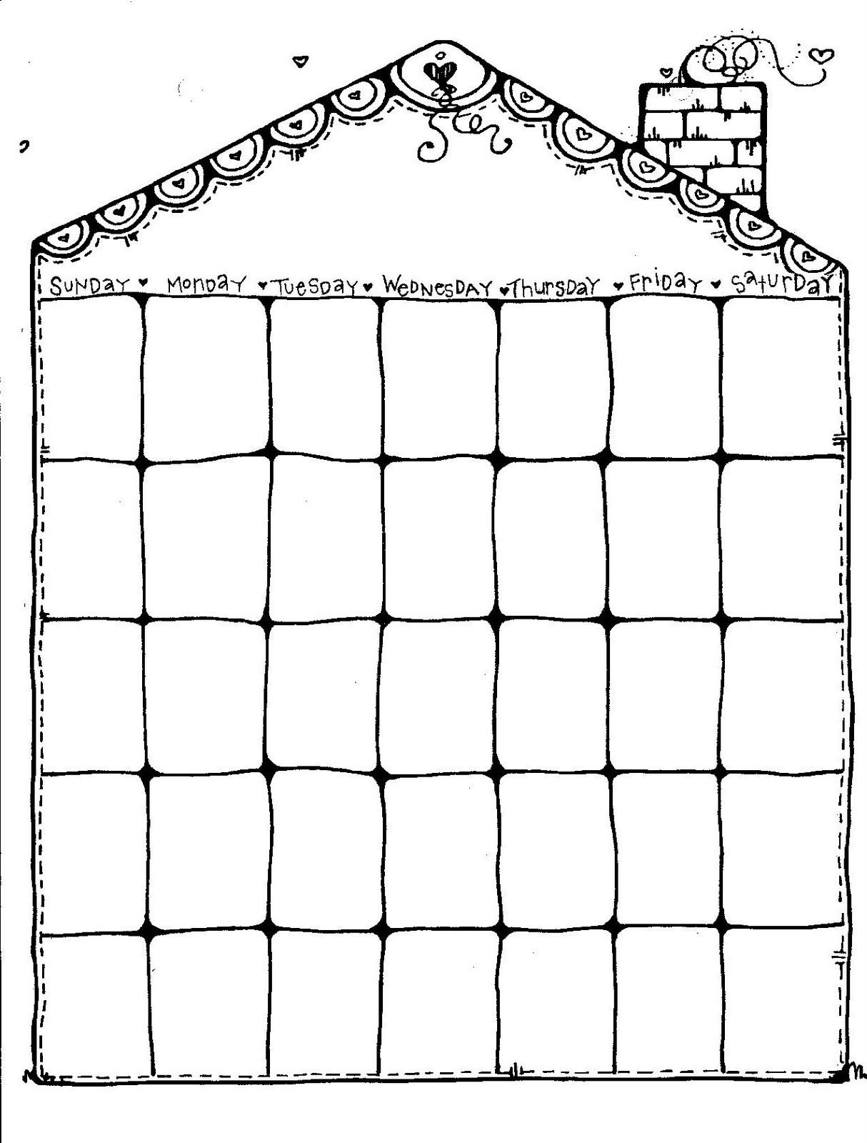 blank weekly calendar nice