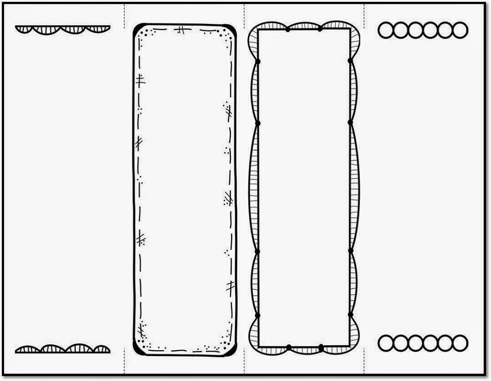 Bookmark template to print activity shelter for Design a bookmark template
