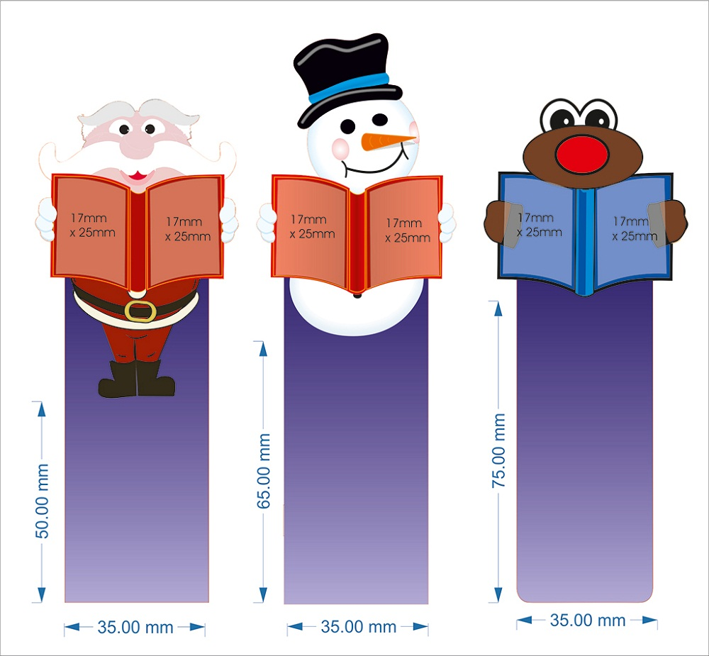 bookmark template christmas