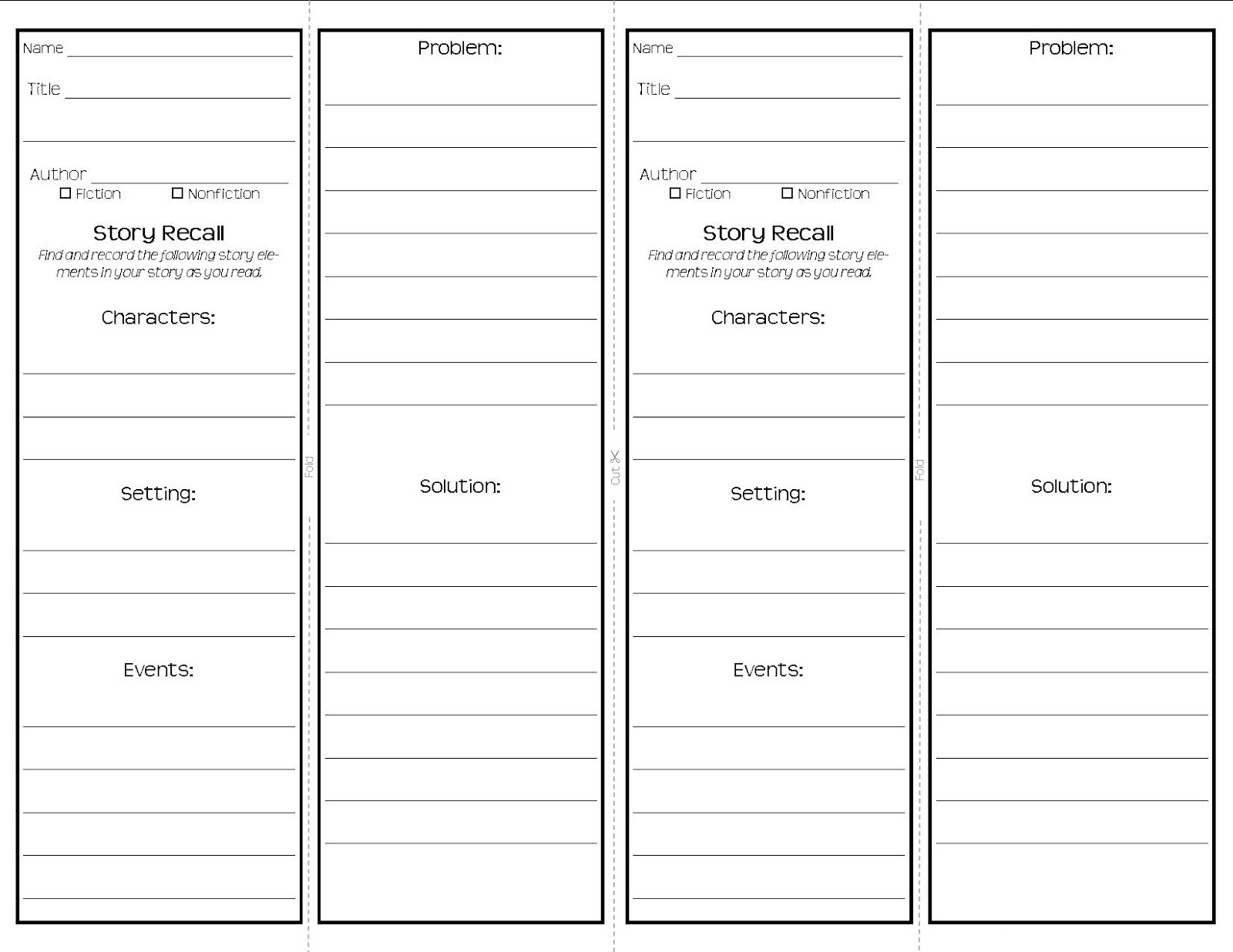 Bookmark Template Free from www.activityshelter.com