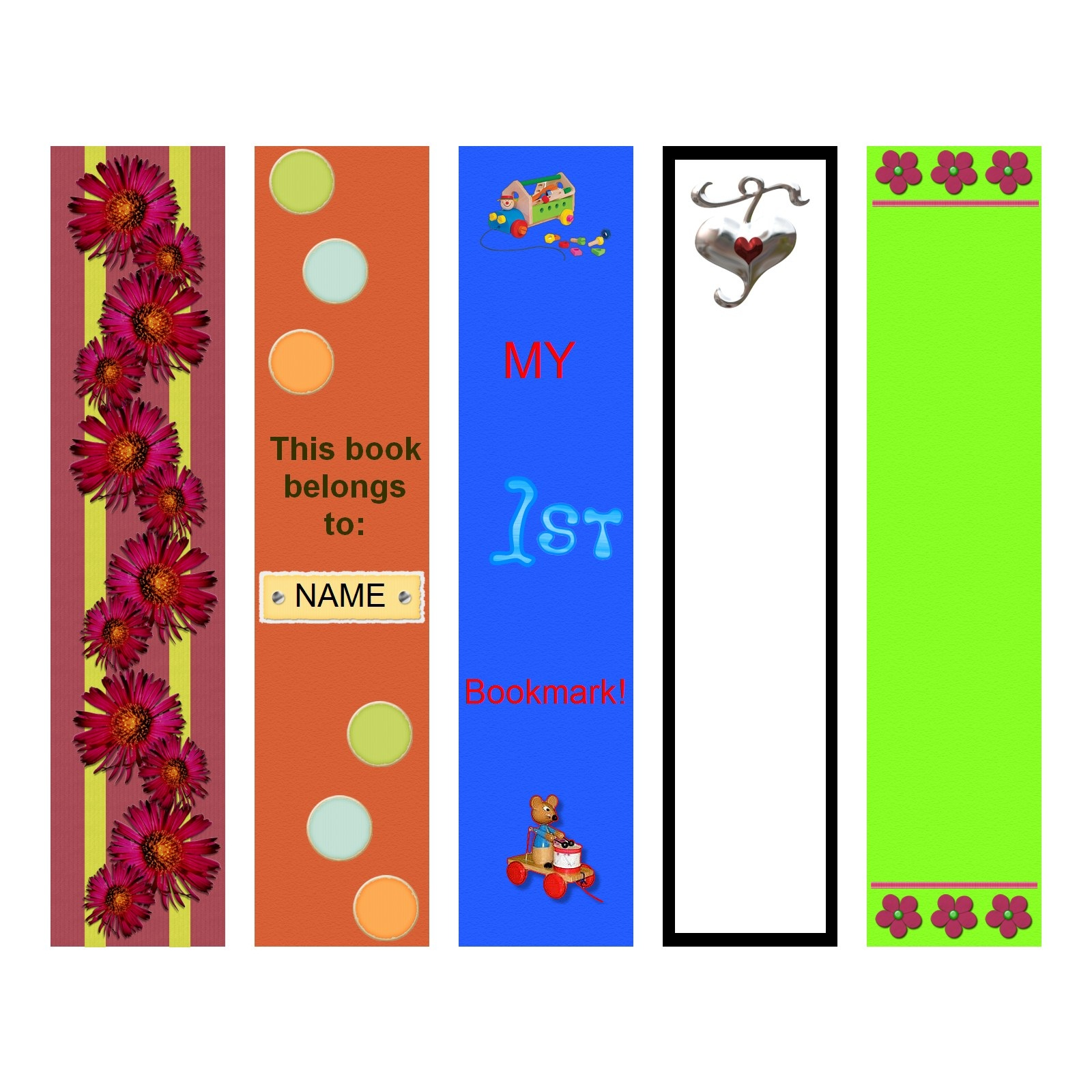 bookmark template fullcolor