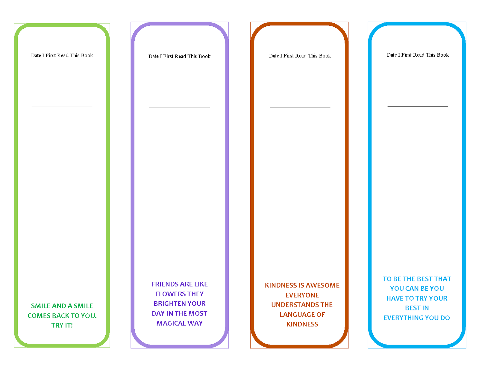 Bookmark template to print activity shelter for Double sided bookmark template