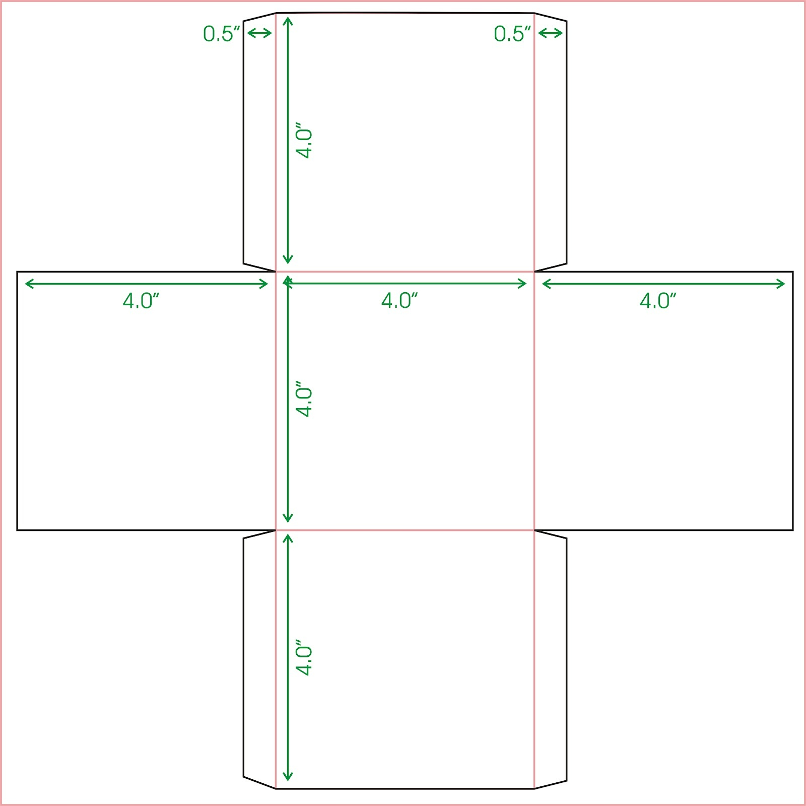 It's just a picture of Slobbery Square Box Template Printable