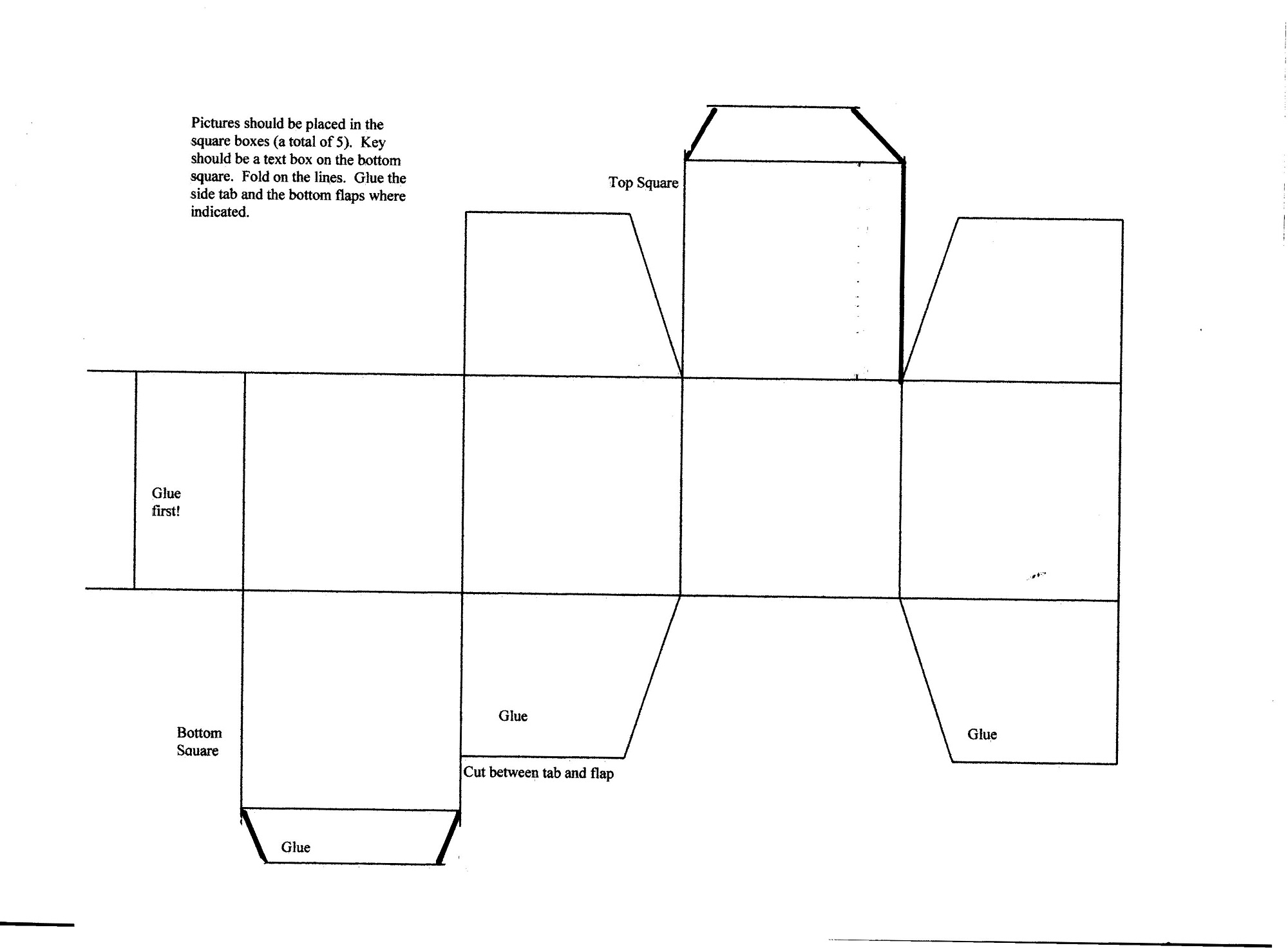 box template printable activity shelter. Black Bedroom Furniture Sets. Home Design Ideas