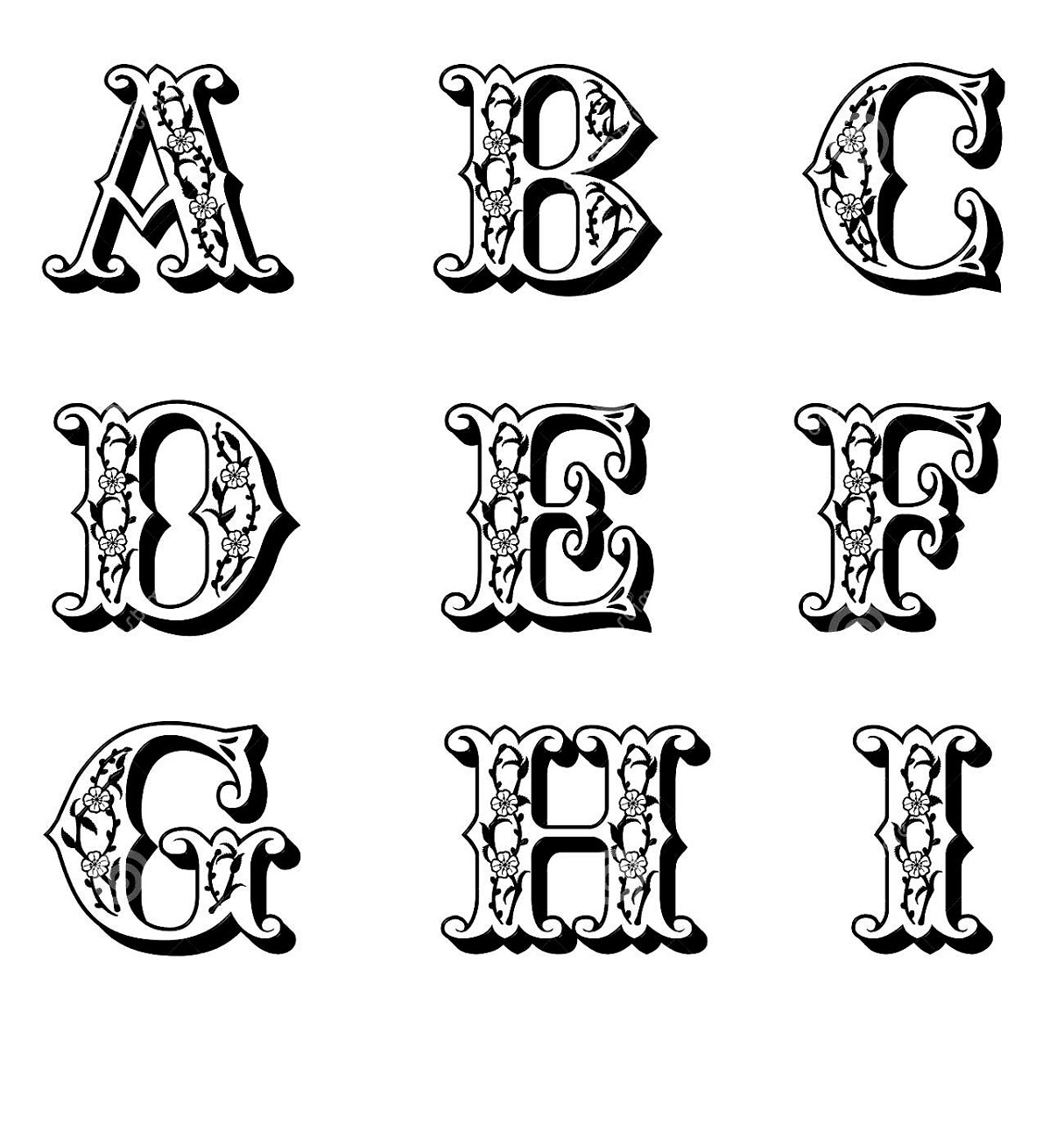 capital alphabet letters free