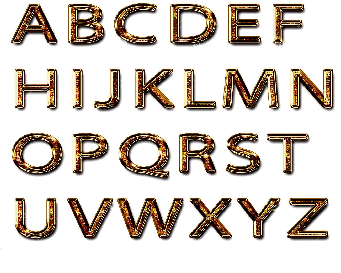 capital alphabet letters new