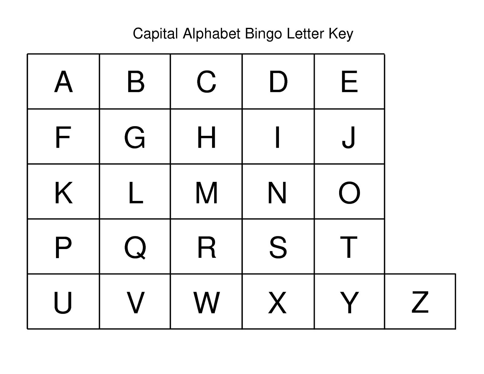 capital alphabet letters simple
