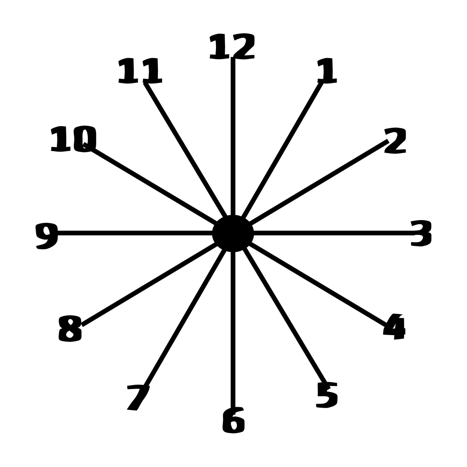 clock face printable free