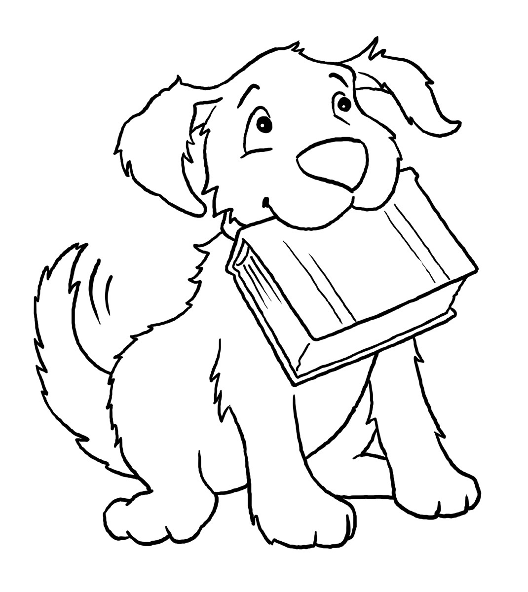 coloring book pages dog