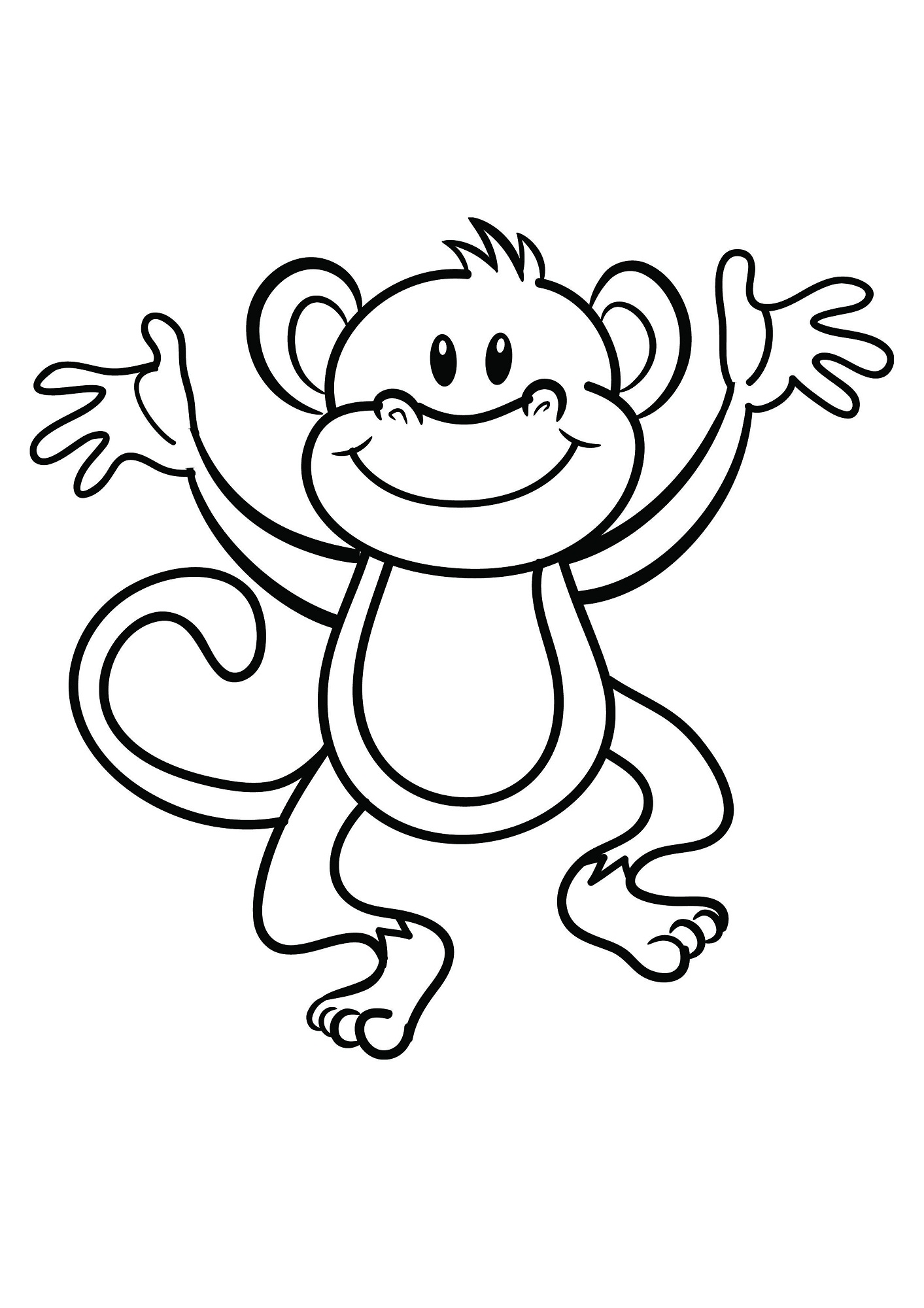 coloring pages of monkeys easy