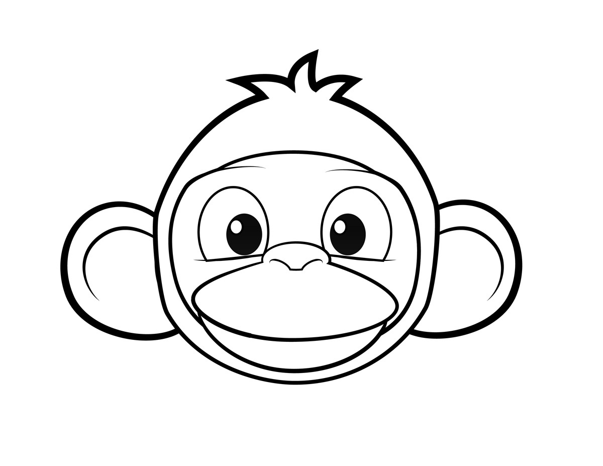 coloring pages of monkeys face