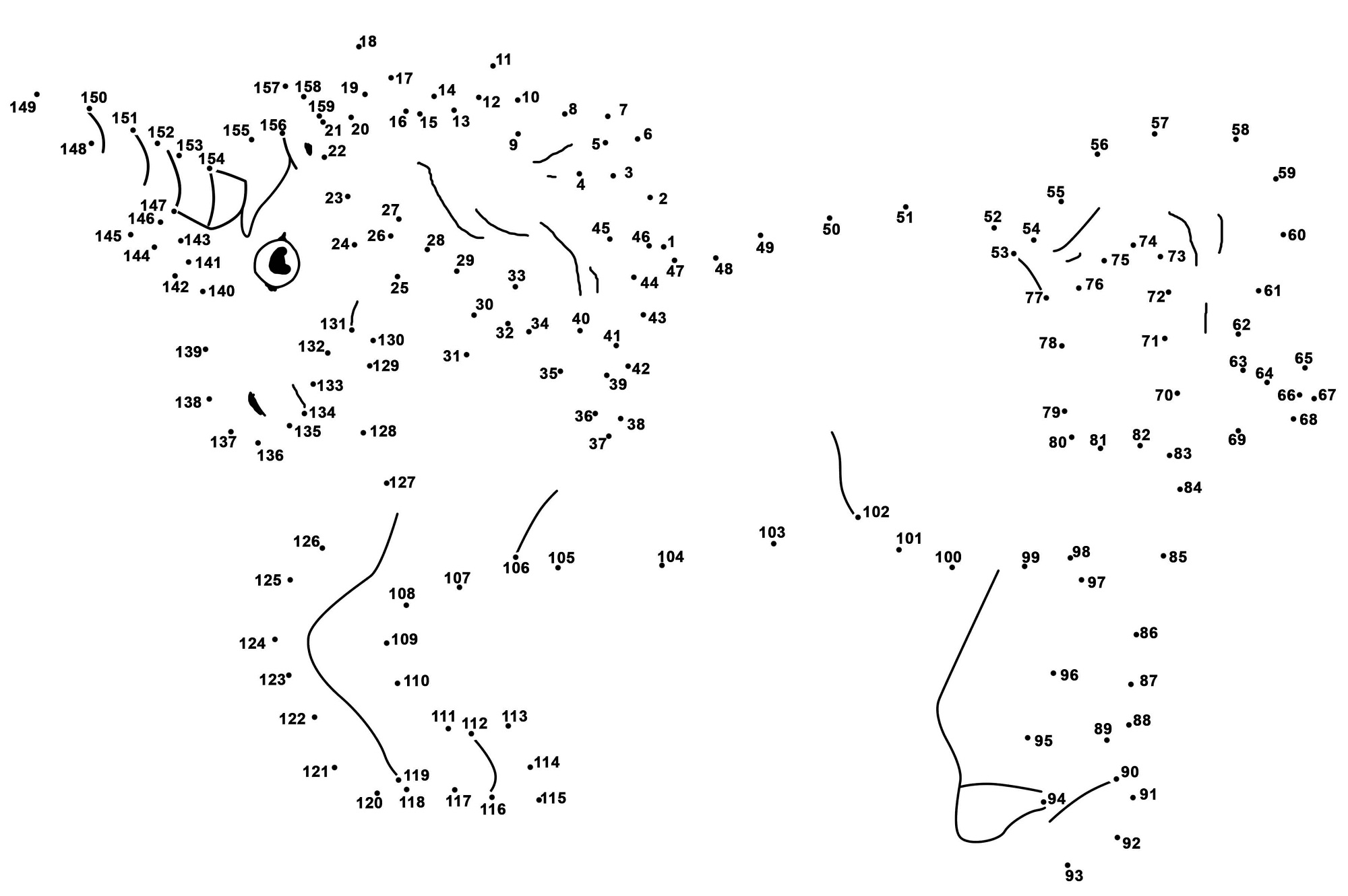 dot to dot printables unicorn