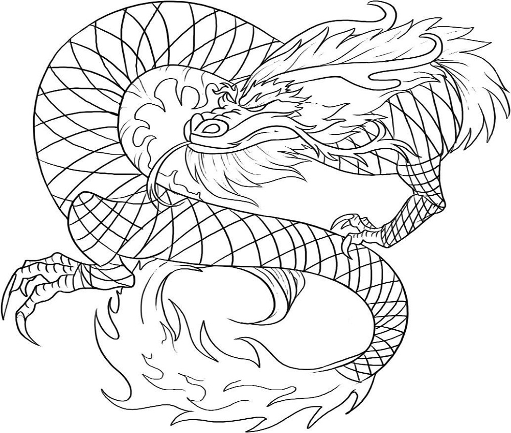 dragon colouring pages 2016