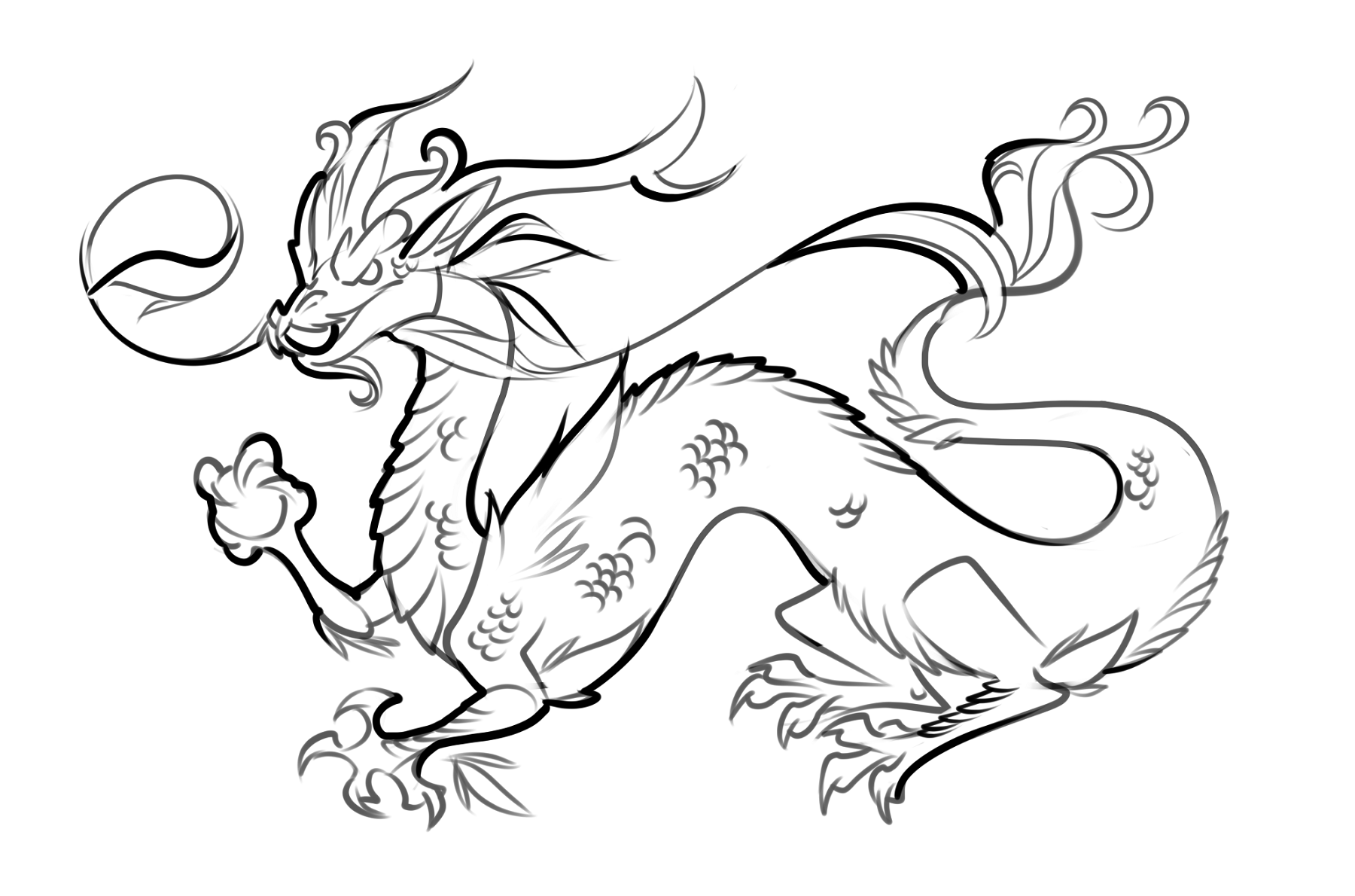 dragon colouring pages easy