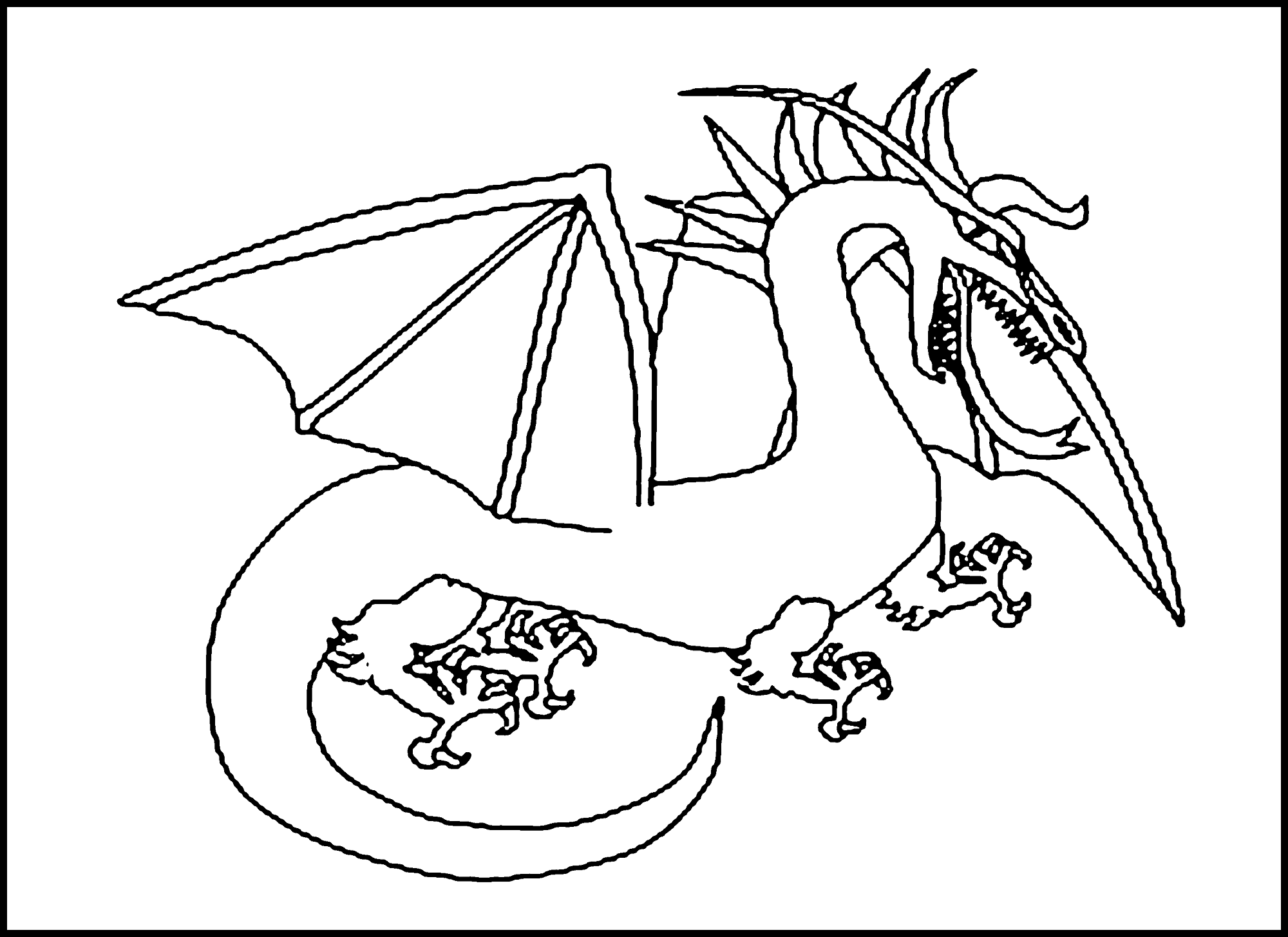 free online dragon coloring pages - dragon coloring pages printable activity shelter