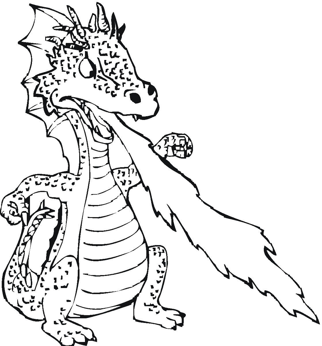 dragon colouring pages scary