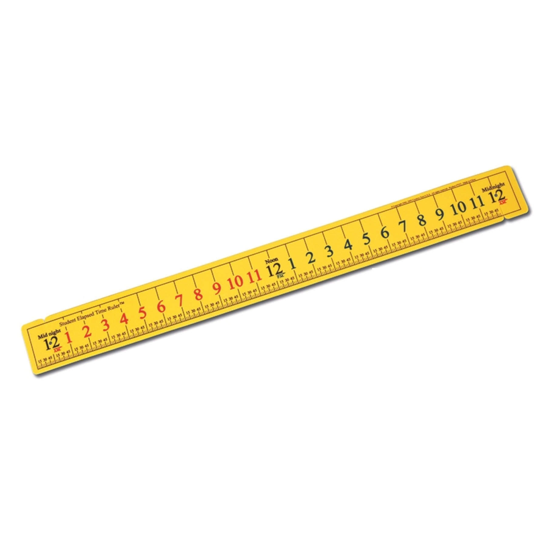 elapsed time ruler yellow