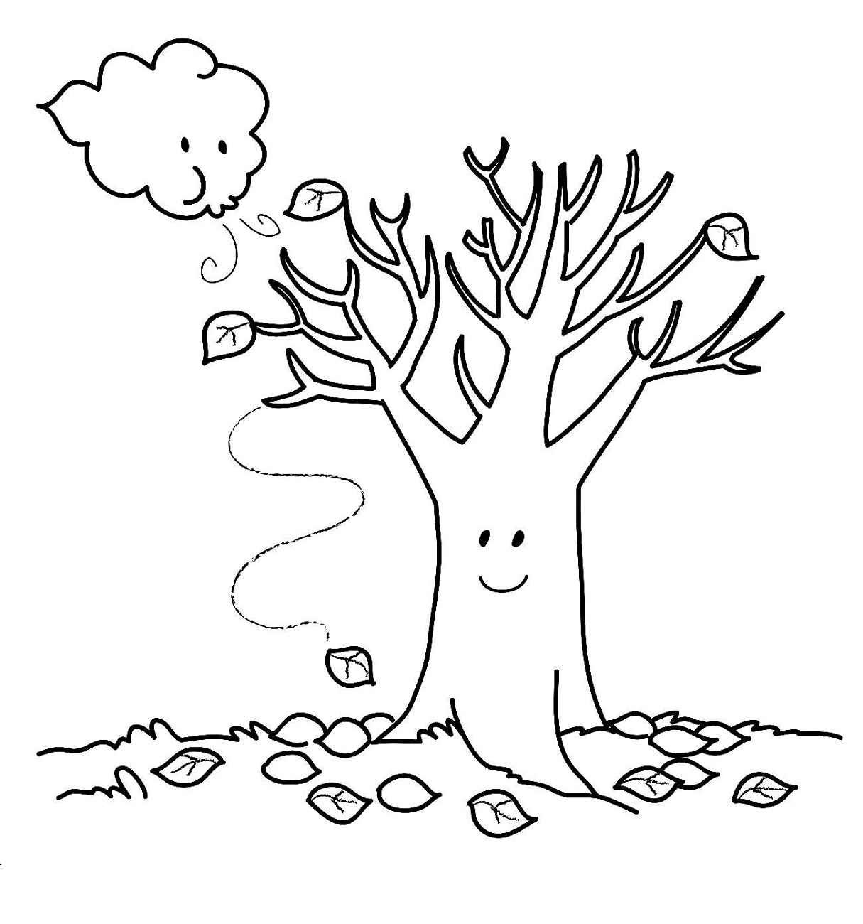 Fall coloring pages printable activity shelter for Fall coloring pages for toddlers