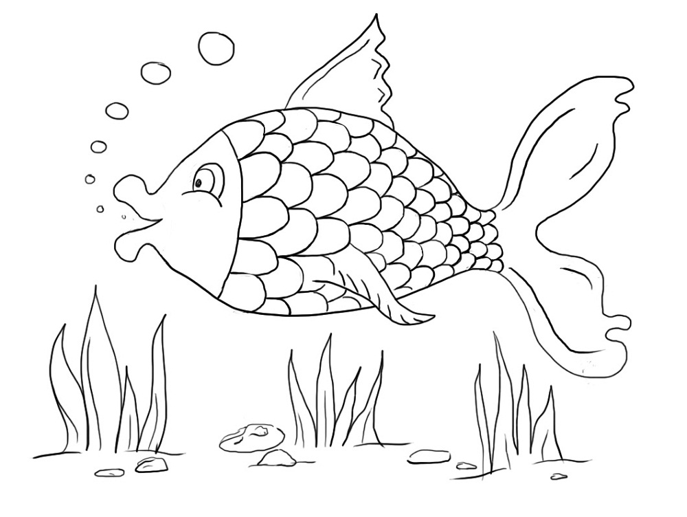 fish color sheet simple