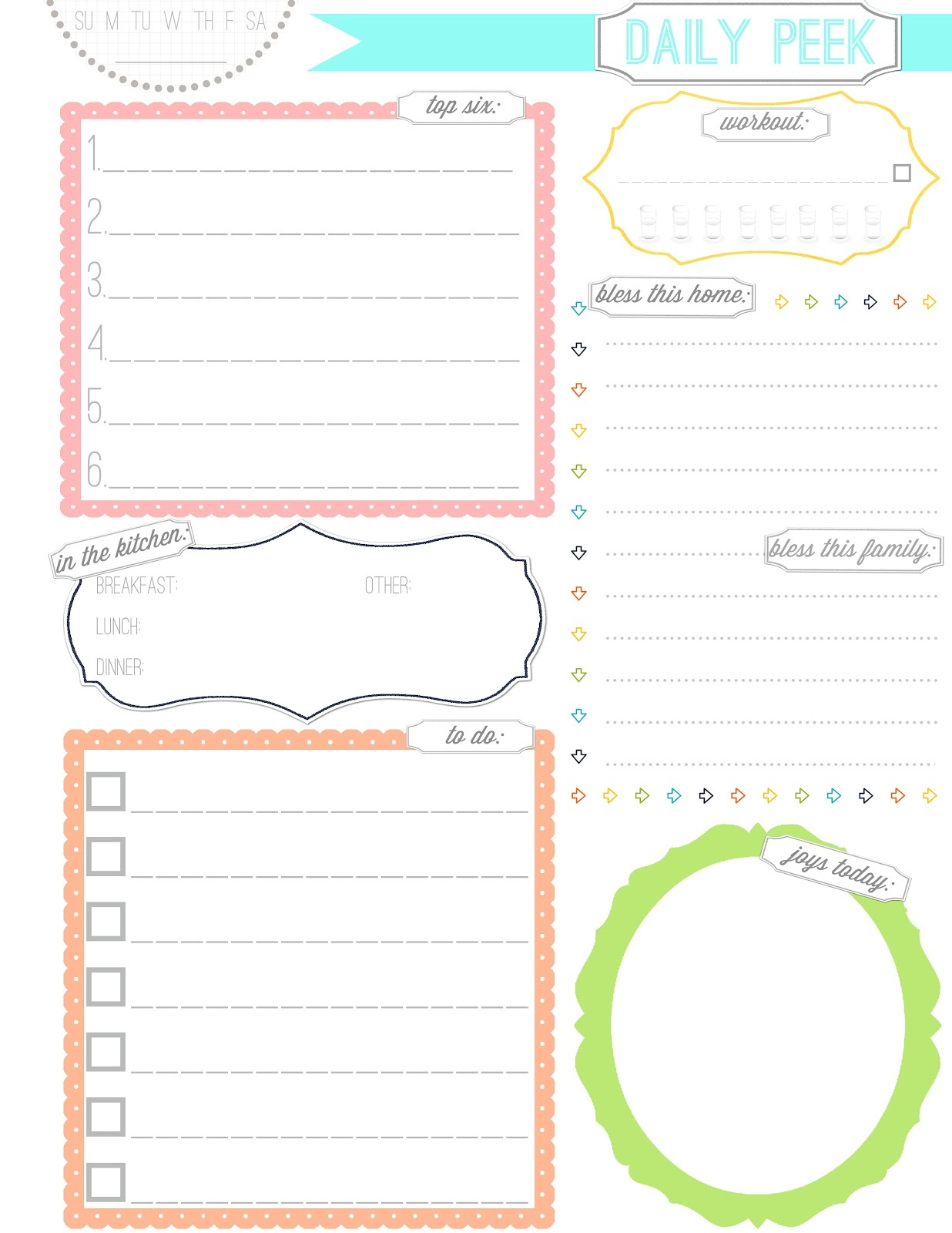Free printable planner pages activity shelter for Make a planner online