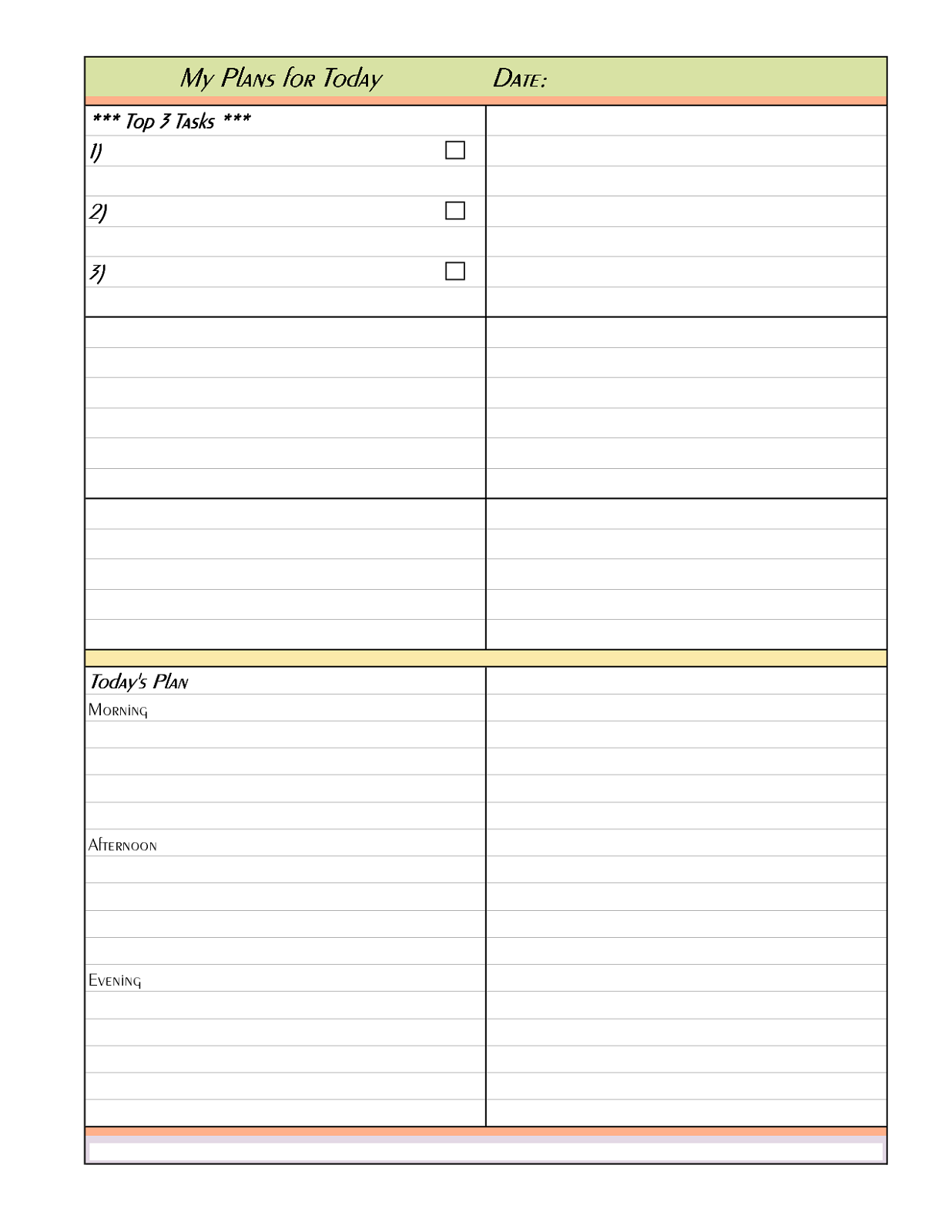 free printable planner pages free