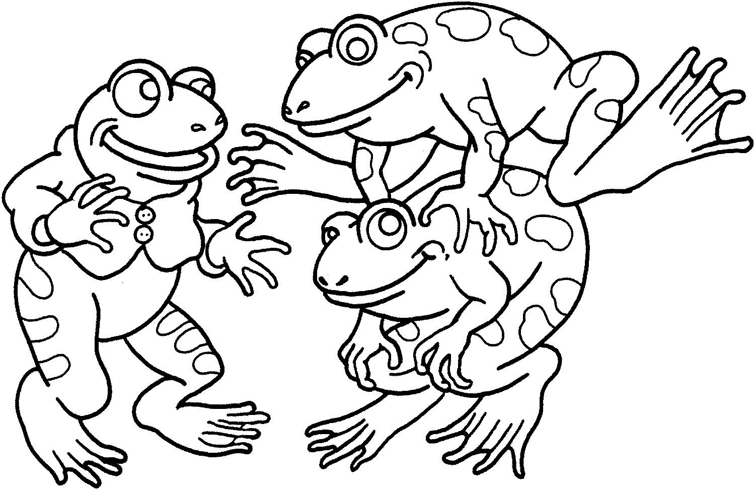 frog color page for kids