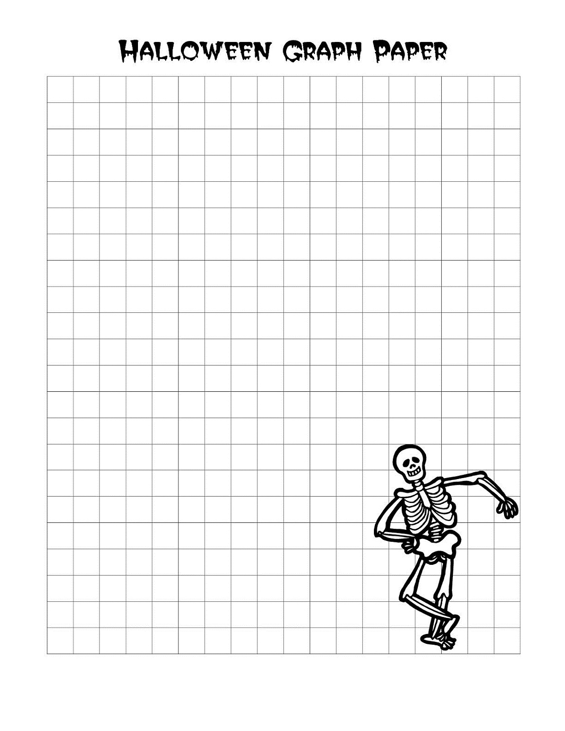 Graph Paper Worksheets to Print – Halloween Graphing Worksheets